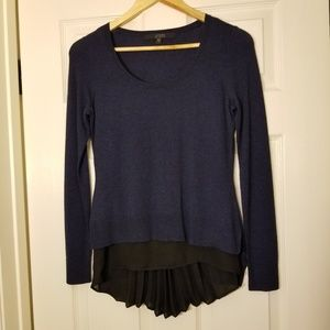 NWOT Guess Layered Pleated Two-fer Sweater Top